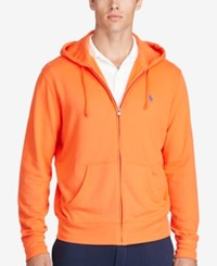Polo Ralph Lauren Men's Big And Tall Full Zip Hoodie Orange
