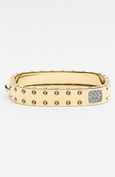 Roberto Coin 'Pois Mois' Wide Hinged Bangle With Diamonds Yellow Gold