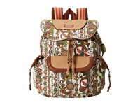 Sakroots Artist Circle Flap Backpack Natural Spirit Desert Backpack Bags White