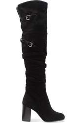 Sam Edelman Sable Suede Knee Boots Black