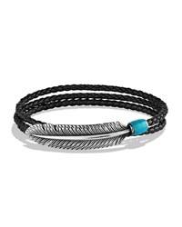 Frontier Feather Wrap Bracelet Black David Yurman