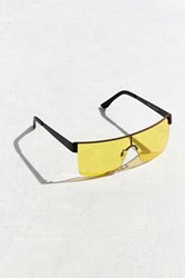 Urban Outfitters Icon Color Shield Sunglasses Yellow