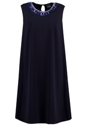 Persona By Marina Rinaldi Dare Summer Dress Navy Blue Dark Blue