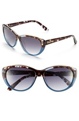 Lilly Pulitzer Women's 'Marianne' 59Mm Cat Eye Sunglasses Gradient Blue Tortoise