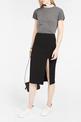 Alexander Wang T By Women S Side Slit Pencil Skirt Boutique1 Black
