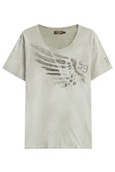 Rude Riders Wing Cotton T Shirt Grey