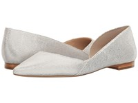 Marc Fisher Sunny 4 Bianco Silver Women's Dress Flat Shoes White