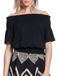 Plenty By Tracy Reese Off The Shoulder Smocked Top Black
