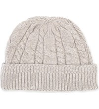 Tom Ford Cable Knit Cashmere Beanie Beige