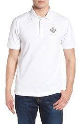 Cutter And Buck Big Tall New Orleans Saints Advantage Regular Fit Drytec Polo White