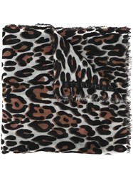 Stella Mccartney Animal Print Scarf Multicolour