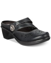 Easy Street Shoes Columbus Mules Women's Black