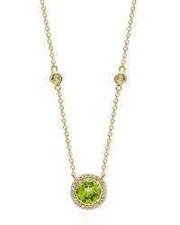 Grace Green Peridot And Diamond Necklace Kiki Mcdonough Black