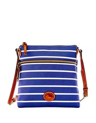 Dooney And Bourke Eastham Nylon Crossbody Bag Navy White