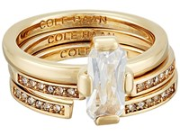 Cole Haan Baguette Ring Gold Cz Ring