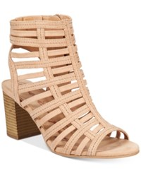 American Rag Sanchie Block Heel Sandals Only At Macy's Women's Shoes Light Sand