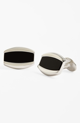 David Donahue Sterling Silver Cuff Links Silver Black