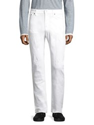 Nudie Jeans Tilted Tor Straight Fit Pitch White