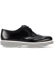 Church's Ruby Flatform Brogues Women Leather Rubber 37 Black