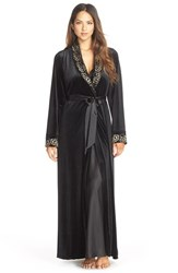 Women's Jonquil 'Vivian' Velvet And Lace Robe