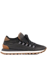 Brunello Cucinelli Ball Chain Embellished Sneakers Black
