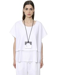 Nehera Oversized Layered Cotton Jersey T Shirt