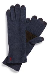 Polo Ralph Lauren Merino Wool Tech Gloves Dark Indigo Heather