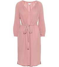 Velvet Kandra Cotton Midi Dress Pink
