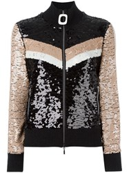 Aviu Sequined Zipped Cardigan Black