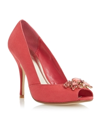 Untold Dimmera Embellished Court Shoe Coral