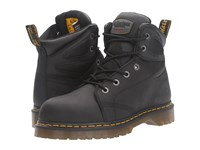 Dr. Martens Work Fairleigh Steel Toe 6 Eye Boot Black Overlord Lace Up Boots