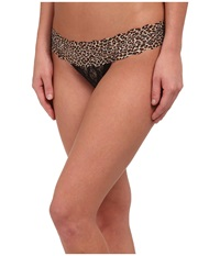 B.Tempt'd Lace Kiss Thong Night Animal Accent Women's Underwear Animal Print