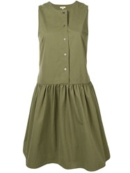 Bellerose Button Up Midi Dress Green