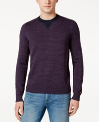 Tommy Hilfiger Men's Space Dyed Sweater Plum Perfect Heather