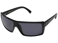 Von Zipper Snark Polarized Black Gloss Vintage Grey Wildlife Polarized Lens Fashion Sunglasses Gray