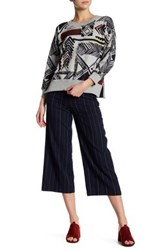 French Connection Riviera Stripe Flare Trouser Blue