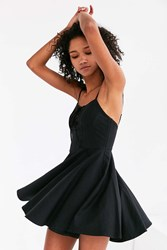 Kimchi And Blue Katie Lace Up Corset Mini Dress Black