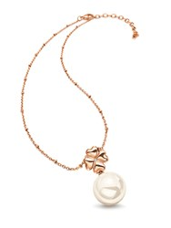 Folli Follie Grace Rose Gold Pearl Drop Necklace