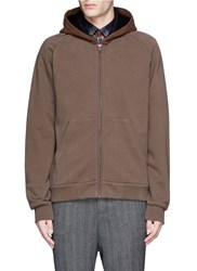 Givenchy Cashmere Hood Zip Hoodie Brown