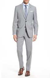 Ted Baker Men's London Trim Fit Check Wool Suit