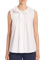 Chloe Sleeveless Eyelet Blouse Optic White