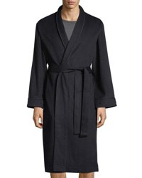 Neiman Marcus Luxury Cashmere Long Robe Navy