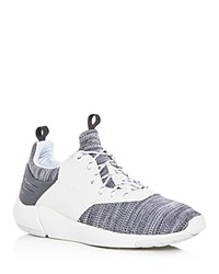 Creative Recreation Motus Knit Lace Up Sneakers White Gray