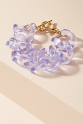 Anthropologie Linked Lucite Wrap Bracelet Lilac