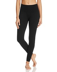 Yummie Tummie By Heather Thomson Anita Fleece Lined Leggings Black