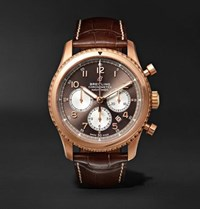 Breitling Navitimer 8 B01 Chronograph 43Mm Red Gold And Alligator Watch Brown
