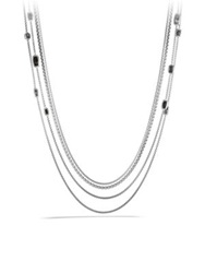 David Yurman Confetti Station Necklace With Black Onyx Black Diamonds And Gold Silver Onyx
