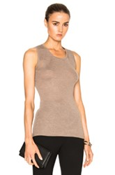 Calvin Klein Collection Cocco Cashmere Rib Tank In Neutrals