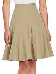 Marc By Marc Jacobs Panel Pleated Full Skirt Safari