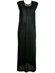 Twin Set T Shirt Maxi Dress Women Cotton Polyamide S Black